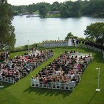 Tides Inn Wedding Ceremony On Croquet Lawn