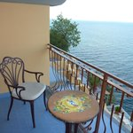 Balcony Seating with the Bay of Naples.