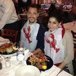 Amy and RIAD preparing to attack the crustacean monsters