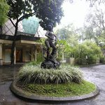 An iconic sculpture of Inul, Indonesian popular singer.