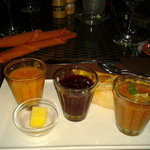 trio of chilled soup