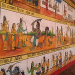 Paintings of Ramayana on the temple walls
