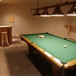 Pool table/games room at Riverbend for guests