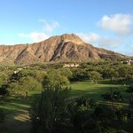 view of Diamond Head from hotel lanai