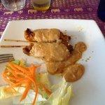 Satay chicken sticks