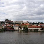 view from charles bridge of the prague castle
