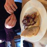 Sausage sandwich in ciabatta