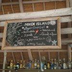 Sample of the bar menu