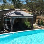 Cool off in gazebo by the pool