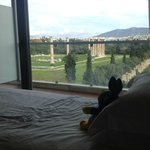 View from our bed, room 507. Temple of Zeus.
