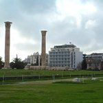 View of the hotel from Temple of Zeus.