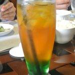 signature iced tea with pandan