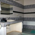 one of the bathrooms in the 2-bedroom-appa