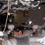 Winterlicher Biergarten