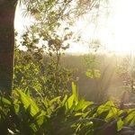 Die Sonne empfängt uns am frühen Morgen.