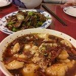 poached fish in chilli oil