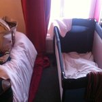 Inside the cosy room with the baby cot