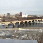 stone arch bridge from the Guthrie