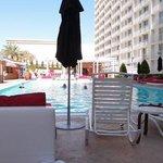 The pool and pool bars.