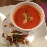 Tomato Soup and Vegetable Pakoras