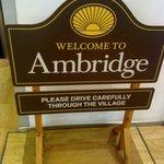 BBC Birmingham - Welcome to Ambridge sign