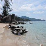 Strandbereich mit Beach Bar