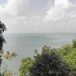 La vue depuis la terrasse de notre villa