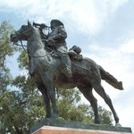 Cavalry bugler sculpture