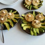 Fish terrine with avocado carpaccio
