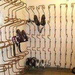 Heated ski storage room