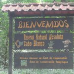 Entrance to Cabo Blanco which is close by Sol y luna