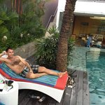 RELAX AT THE POOL OF MERCURE HARVESTLAND... VERY NICE HOTEL.