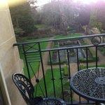 little balcony overlooking rear garden
