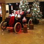 the reception in december, was always a welcoming site when arriving back to t