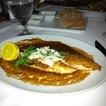 Louisiana redfish topped with lump crabmeat