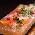 Sashimi on Himalayan Salt Block