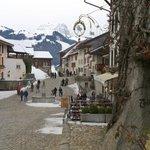 Weg zurück durch Gruyères