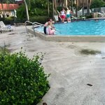 the pool on our 1st day