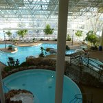 part of the indoor pool from above it