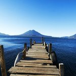 dock on Lake Atitlán