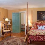 Room 7 is a cozy mid sized room with queen bed on the second floor in front