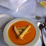 Spicy tomato soup -- decadent!