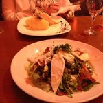 the salad and salmon mains