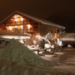 The chalet. The snow. The night.