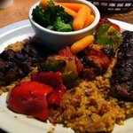 Sirloin Kebab on Rice