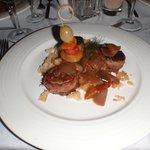 Seafood Restaurant, lamb medallions entree