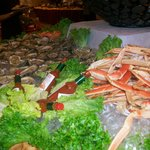 oysters and crab legs