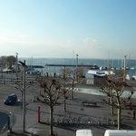 Vue depuis l'hôtel Aulac à Lausanne Ouchy