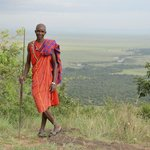 Maasai worrior fromt the staff at the camp