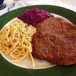 schnitzel baden baden - got to love the blue cabbage and spaetzle - always a great choice!